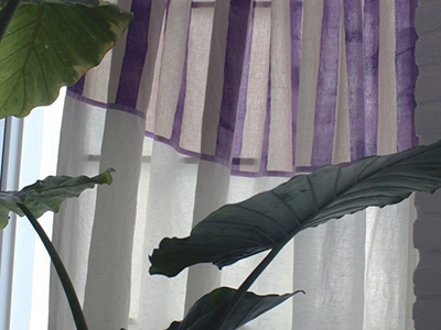 Tende in lino stampato Ombrellino ametista
